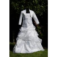 D25 - biele organzová sukňa 146 cm